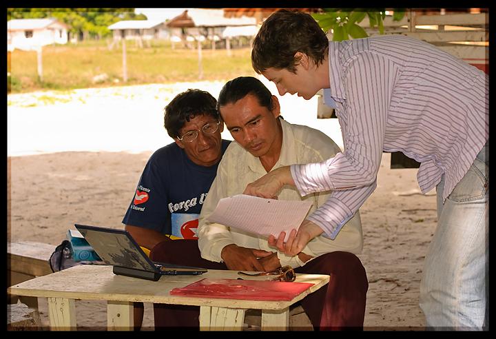 Completing a funding bid, Achiwib, Guyana