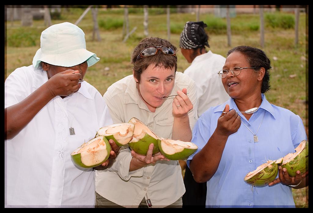 Local delicacy in the South Rupununi- fresh coconut
