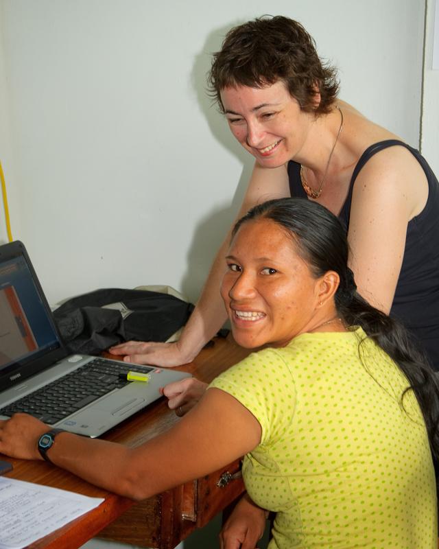Training Renata to run the Anti-Trafficking project
