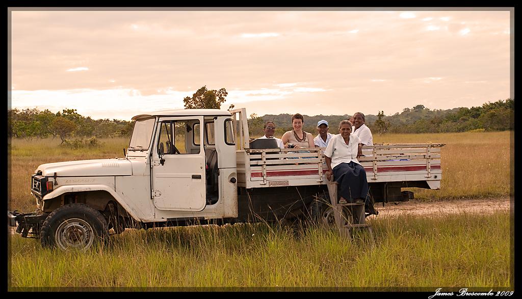 Travelling across the savannah, South Rupununi